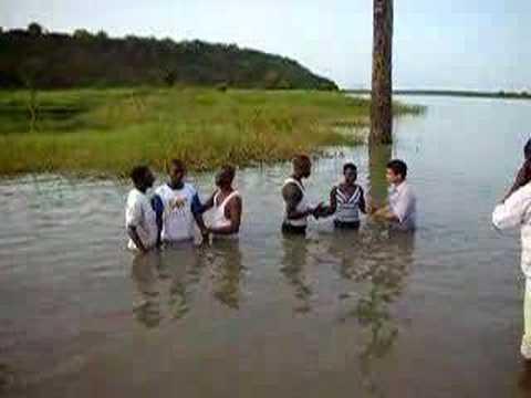 Baptismal service @ Oti River
