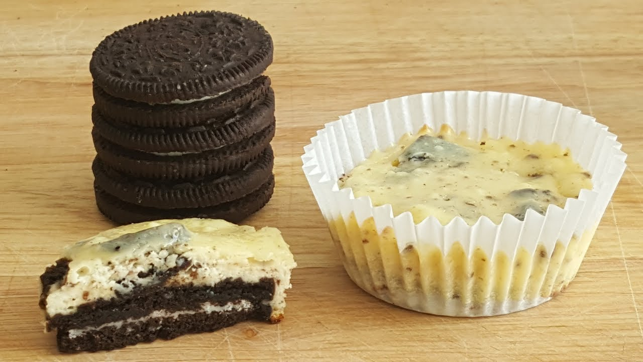 Mini Oreo Cheesecake Rezept Kasekuchen Muffins Youtube