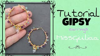 DIY Tutorial earrings Gipsy | MissGiuliaa