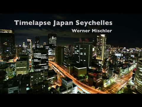 Time-lapse, Seychelles, Japan, Osaka, Stars, Clouds, Blue, Sea, Sky, Nikon D810,