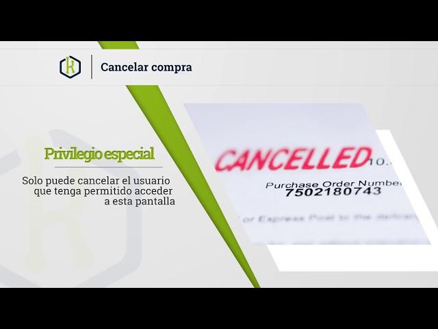 Como cancelar una compra - Kordata.mx