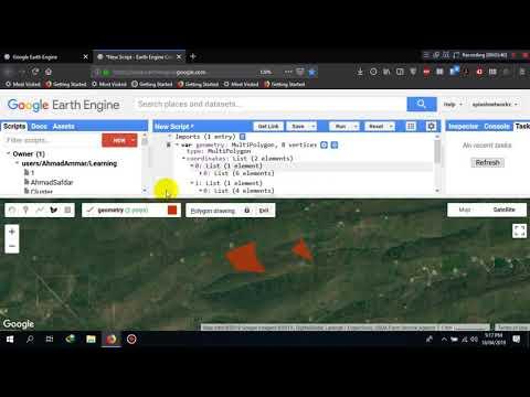 Google Earth Engine - Code Editor