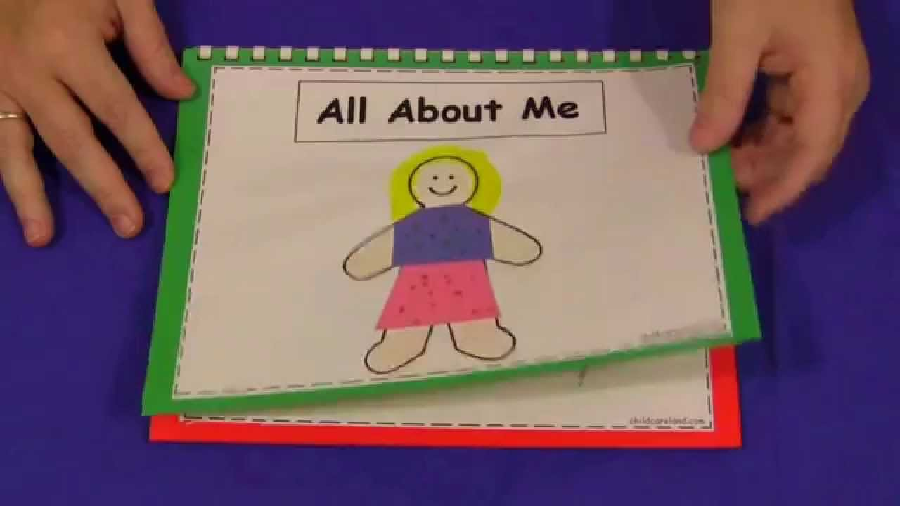 medium resolution of All About Me Book For Preschool and Kindergarten - YouTube