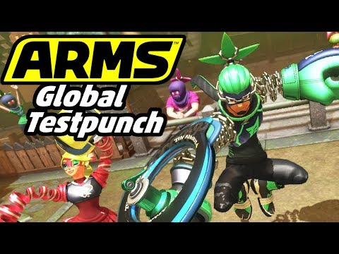 ARMS Global Testpunch (with Danielle) - Nintendo Switch Gameplay - 2 Player Online - Teams VS Hedlok