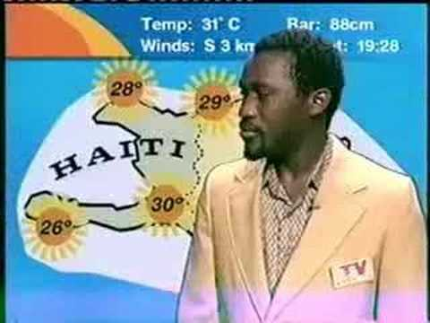 Haiti News - Crazy Weather Man Laugh