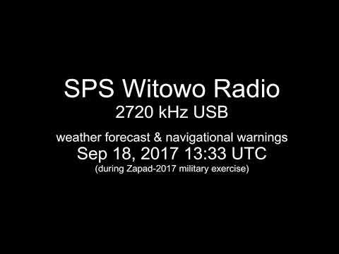 [MW] 2720 kHz - SPS Witowo Radio, Jarosławiec - weather & navigational warnings, Sep 18 2017