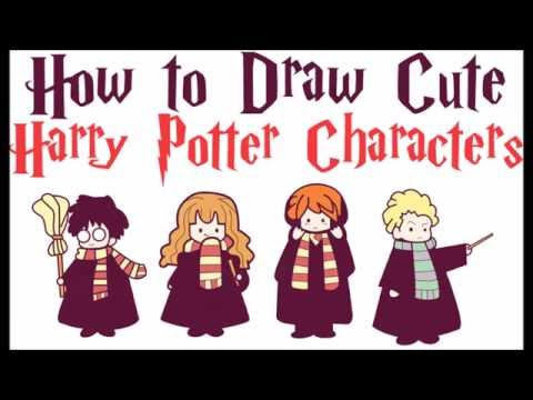 How To Draw Harry Potter Characters Cute Easy Chibi Kawaii
