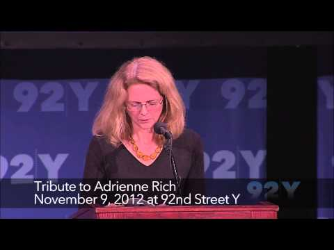 Tribute to Adrienne Rich | 92Y Readings