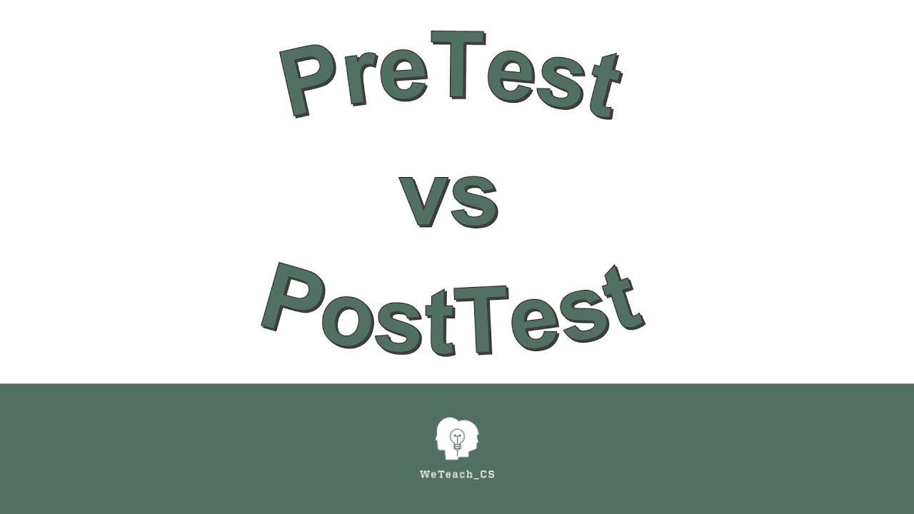 Pretest Vs Posttest 080916 Youtube