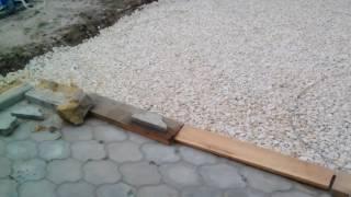 Виброплита, итог трамбовки щебня 20/40(После изготовления и