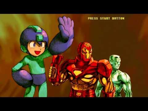 Marvel VS Capcom 2 (Xbox Live Arcade) Arcade Mode as Iron Man, Iceman & Mega Man