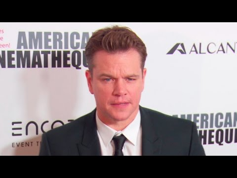 Matt Damon & Noomi Rapace at the American Cinematheque Award Ceremony 2016