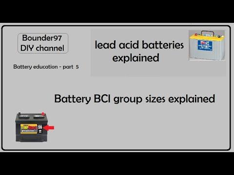 Batteries Part 5  (BCI Group Sizes Explained)