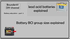 batteries part 5 - BCI group sizes