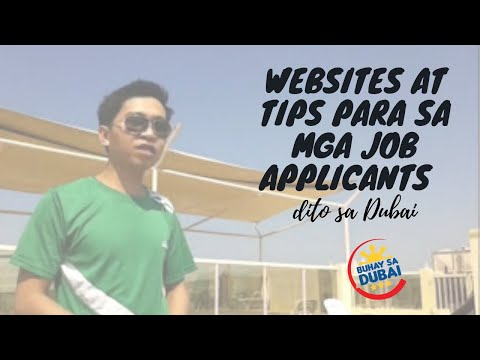 TIPS AND WEBSITES FOR JOB APPLICANT IN DUBAI