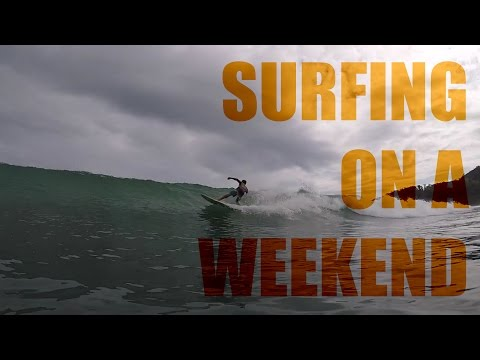Surfing in Baler Aurora Philippines