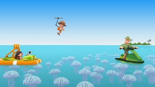 Leo the Wildlife Ranger Minisode #153 - Reef Manta Ray   Animals for Kids   Cartoons