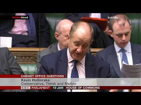 Cabinet Office Question : Kevin Hollinrake MP - 10th January 2018