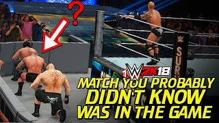 WWE 2K18 - Match You Probably Didn't Know Was In The Game!