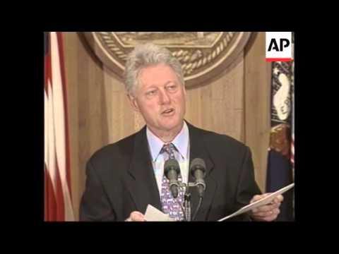 USA: BILL CLINTON ON MIDDLE EAST PEACE DEAL