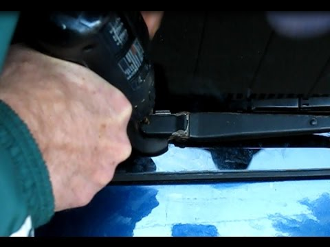 When a car part won't come off:  A seized wiper arm removed the home mechanic way
