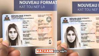 Men nouvo kat identification nationale la!! Tout saw dwe konnen de li