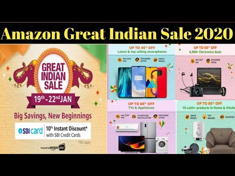 Amazon Great Indian Sale 2020 Best Offers Discount Offers Youtube