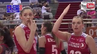 Usa vs Turkey - Final 6 VNL 2018 W - Full Match Highlights - HD