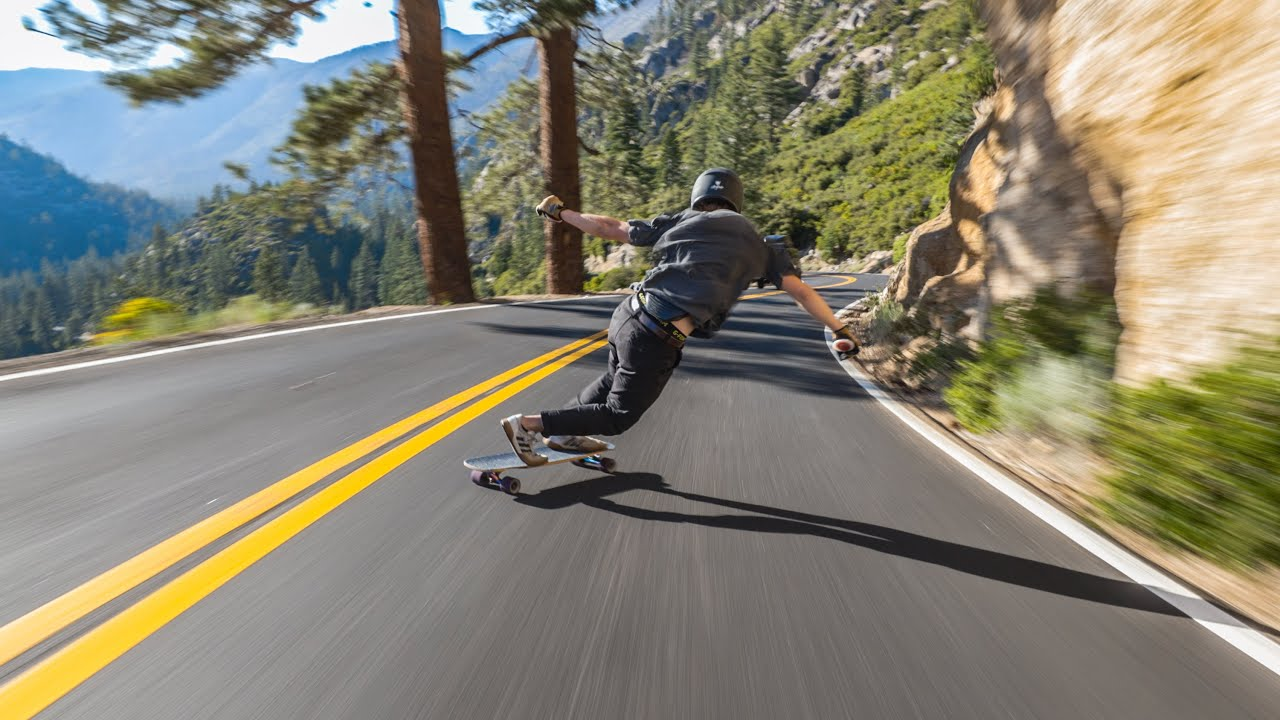 Racing Down a Mountain Pass