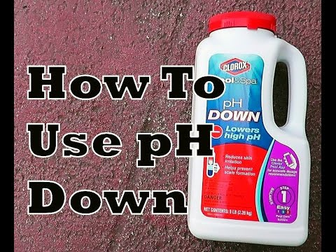 How To Lower pH In Pool    Use Clorox pH Down
