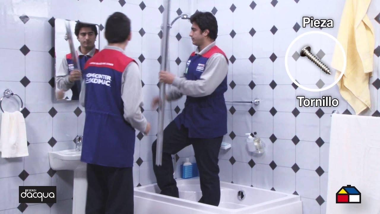 C mo armar e instalar tu mampara de ducha 185 x 135 150 - Instalar mampara de ducha ...