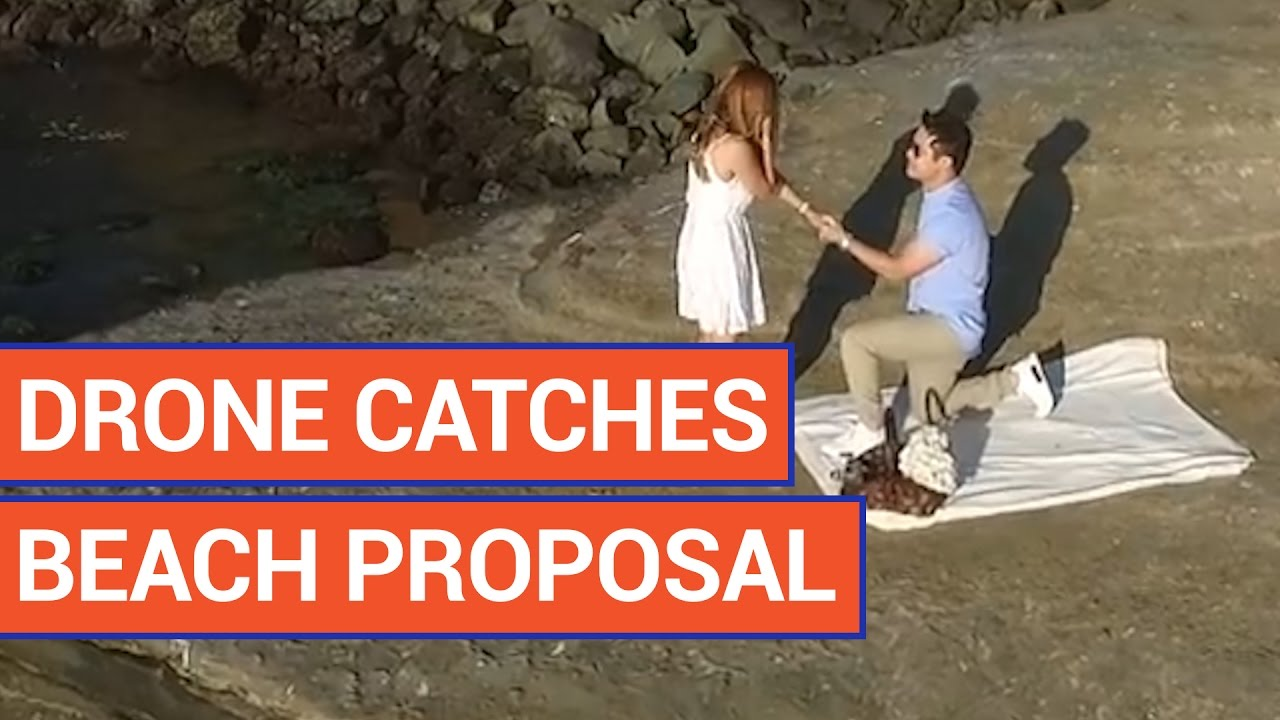Amazing Drone Catches Beach Proposal Video 2016 | Daily Heart Beat