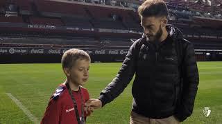 Visita de Mikel al estadio de El Sadar | 18.12.18