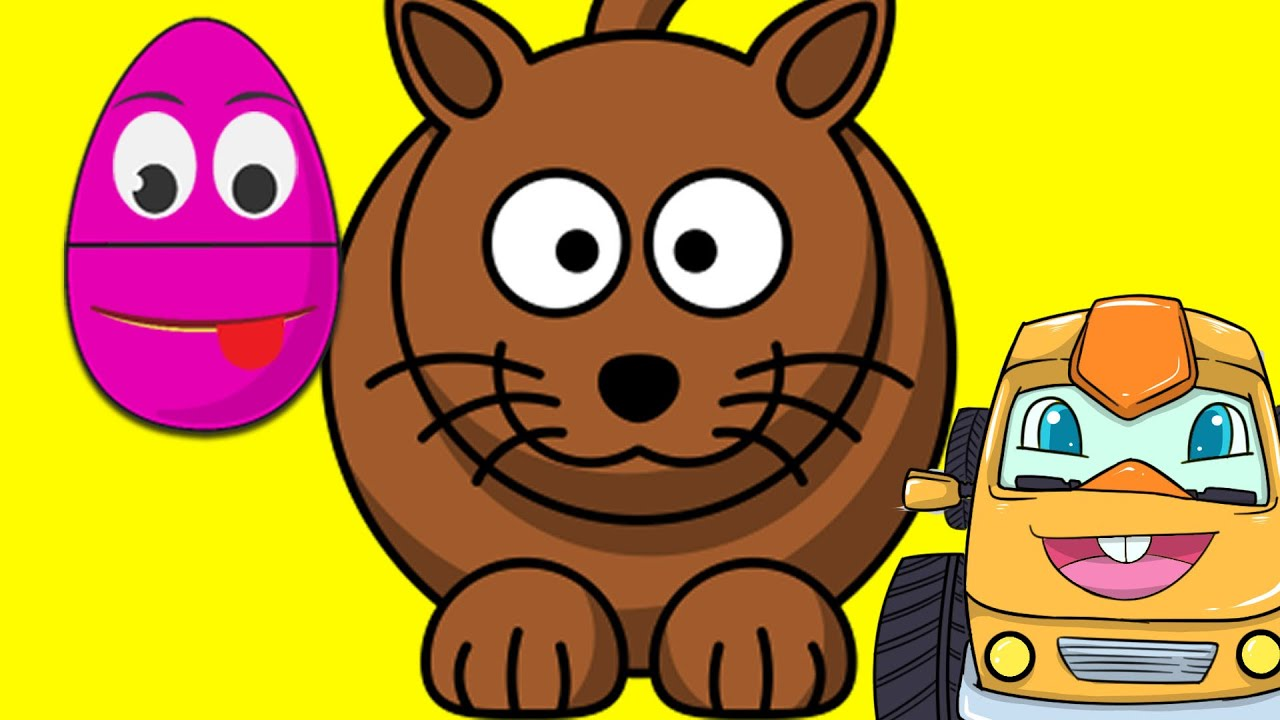 Animated Surprise Easter Eggs for Learning about Animals - Cats ...