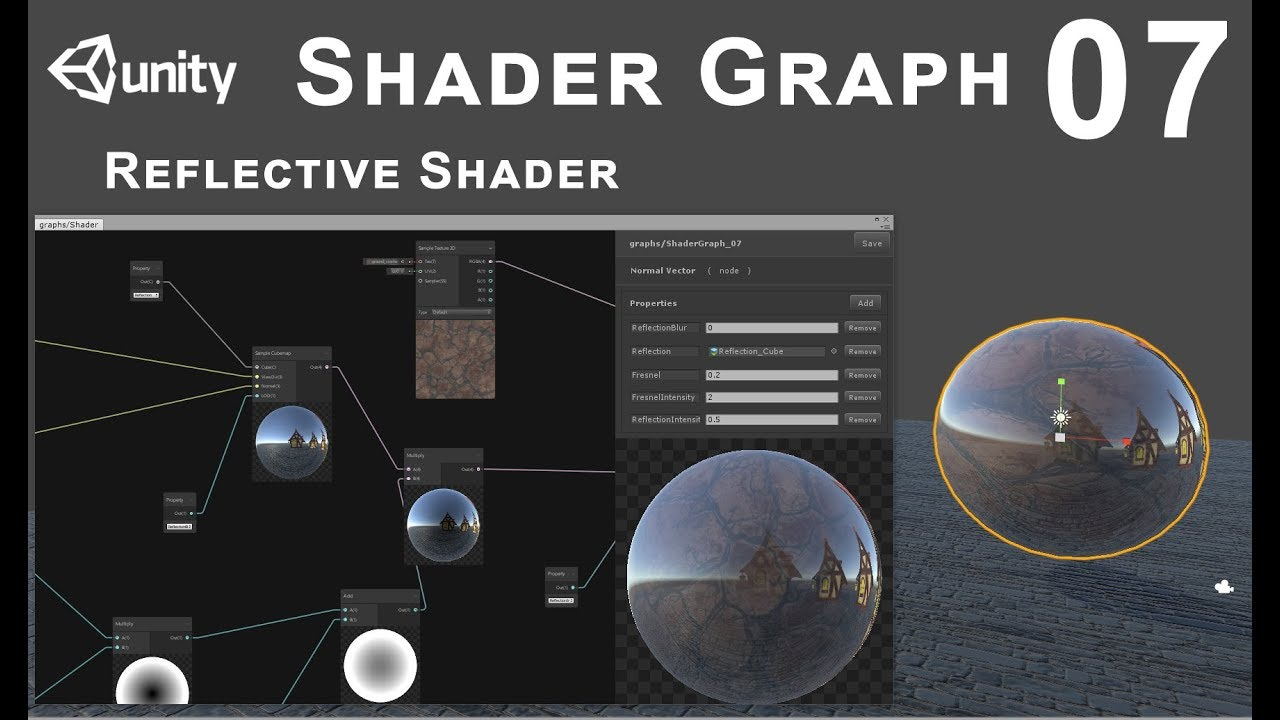 Unity 2018 Shader Graph - Tutorial 07: Reflections