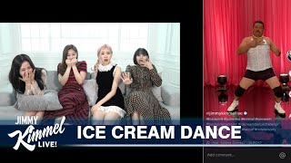 BLACKPINK Teaches Guillermo the Ice Cream Dance