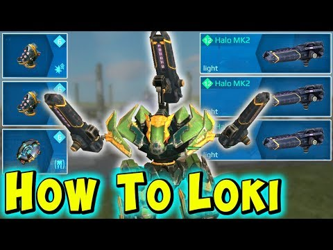 HOW TO LOKI with HALO - Trolling War Robots Mk2 Maxed Gameplay WR