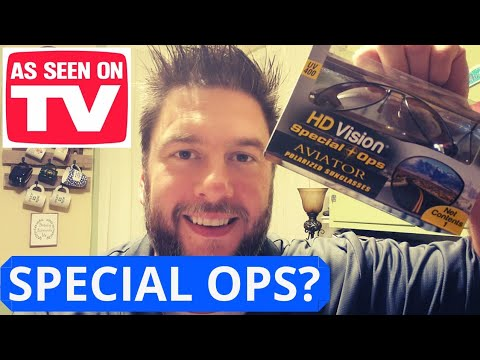 HD Vision Special Ops Aviator Glasses Review. 2019 As Seen On Tv Sunglasses 🕶