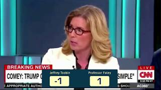 Jeffrey Toobin Owned by Elizabeth Foley Live on CNN - Anderson Cooper is stunned.