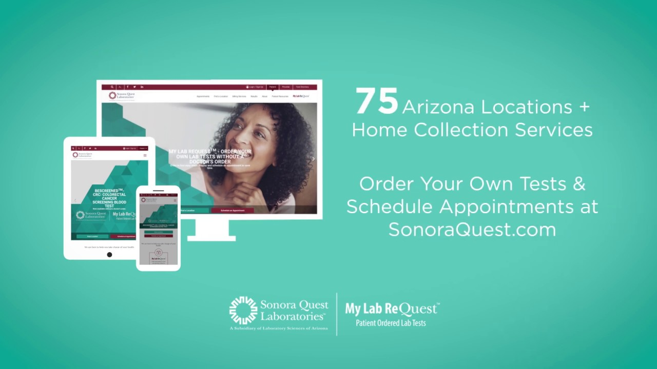 Order Your Own Lab Tests With My Lab Request Sonora Quest
