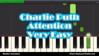 How to Play Attention by Charlie Puth on Piano - Right Hand, Slow