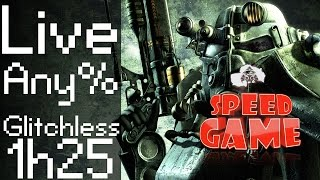 Speed Game Hors-série: Live Fallout 3 Any% Glitchless en moins de 1h25