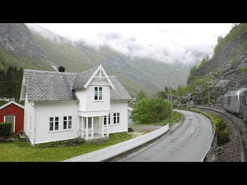 Flåm Railway Train Ride Return Trip from Myrdal (4K)
