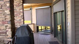 Patio Shades Solution Track Zipper Screens (5 Motorized Units)