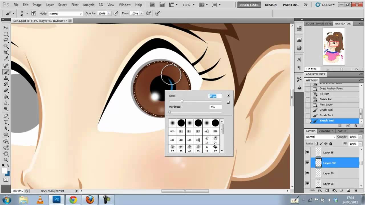 Character Design Disney Tutorial : Photoshop tutorial disney style character youtube