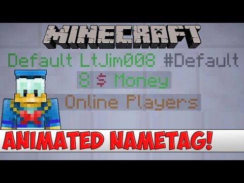Minecraft Plugin Tutorial - Animated Nametag - YouTube