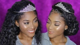 EASY PROM Inspired Hairstyles w/ A LACE WIG!