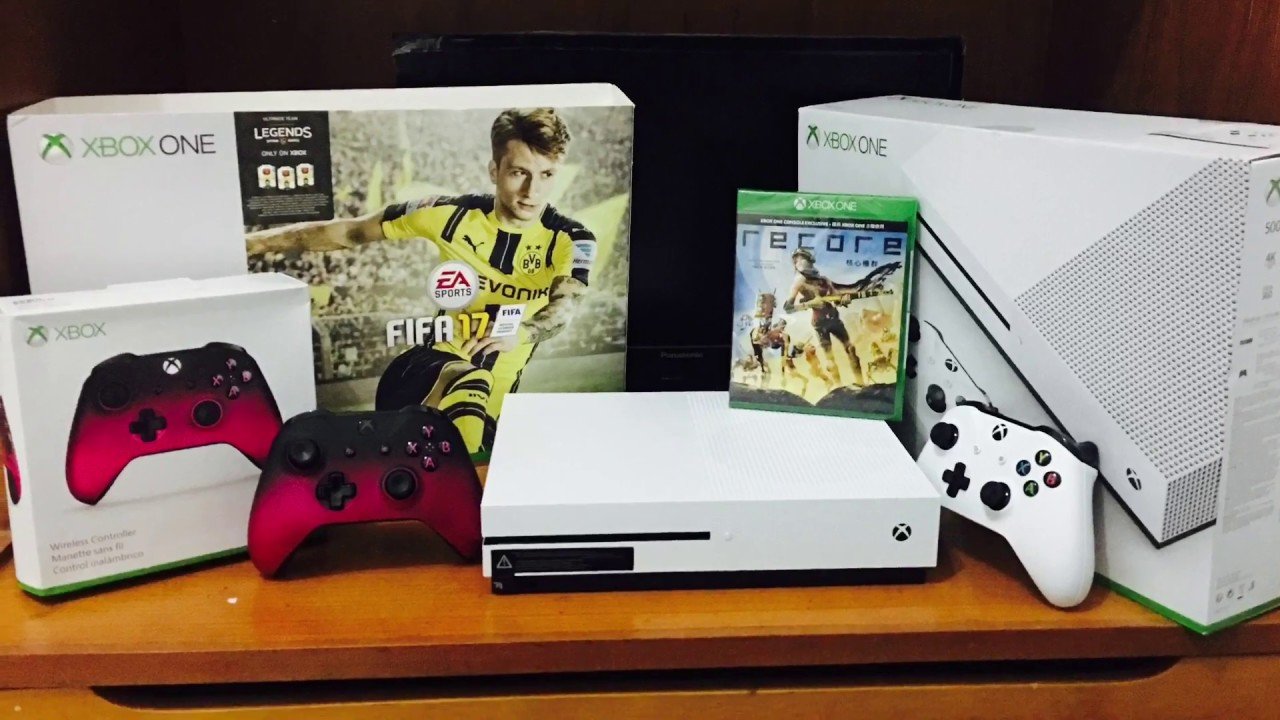 unboxing xbox one s 500gb bundle fifa 17 youtube. Black Bedroom Furniture Sets. Home Design Ideas