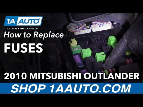 How to Replace Fuses 2010 Mitsubishi Outlander