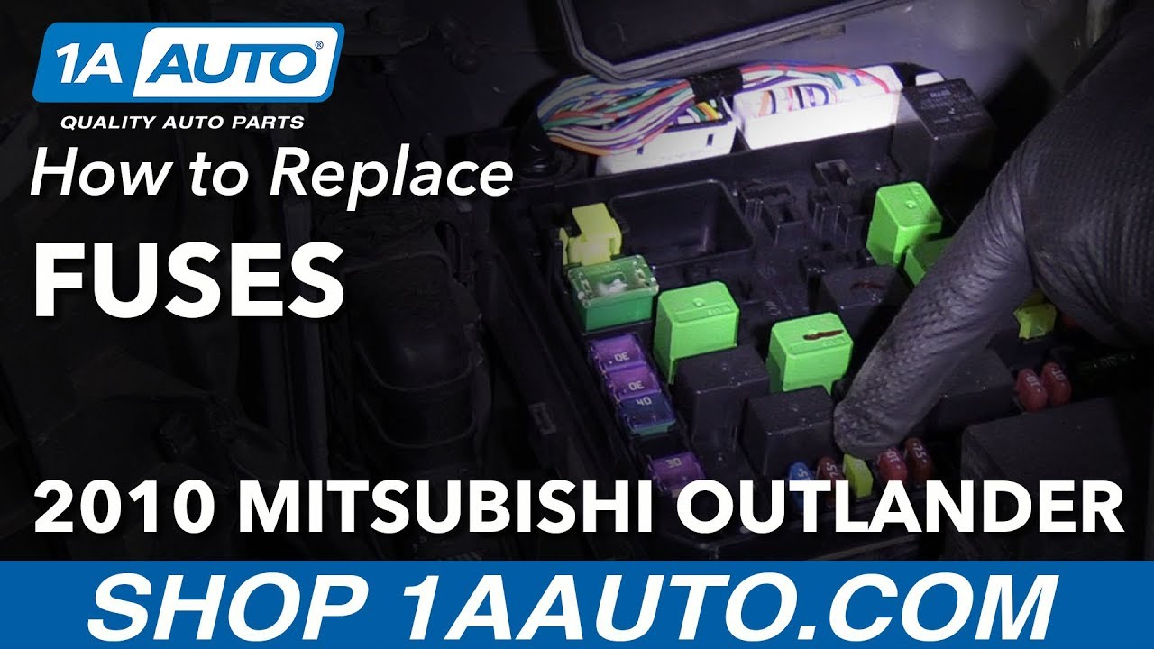 hight resolution of how to replace fuses 07 13 mitsubishi outlander